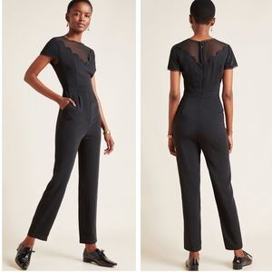 Anthropologie Adeline Scalloped Jumpsuit